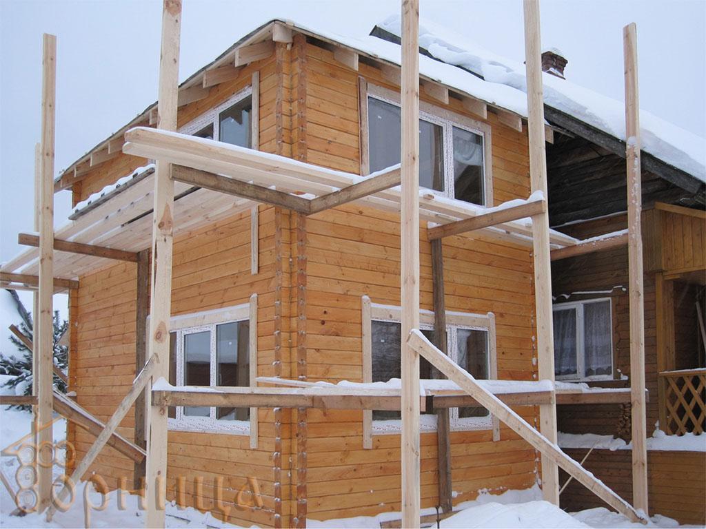 4   январь 2011 - Пристройка к рубленному дому