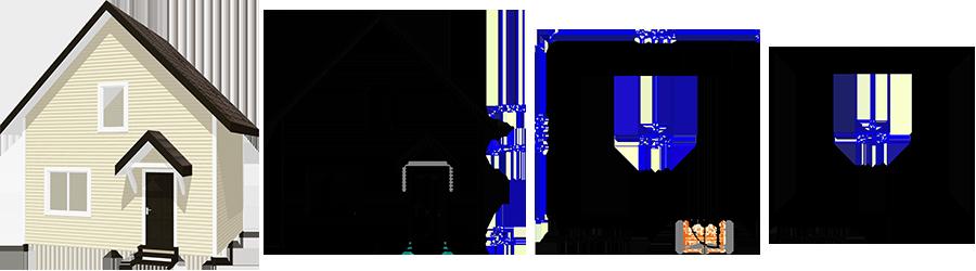 Каркасный дом с мансардой 5х6м