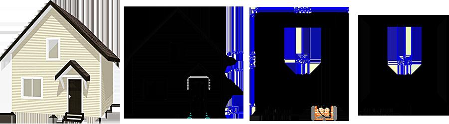 Каркасный дом с мансардой 6х6м