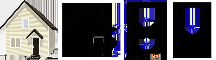 Каркасный дом с мансардой 6х8м