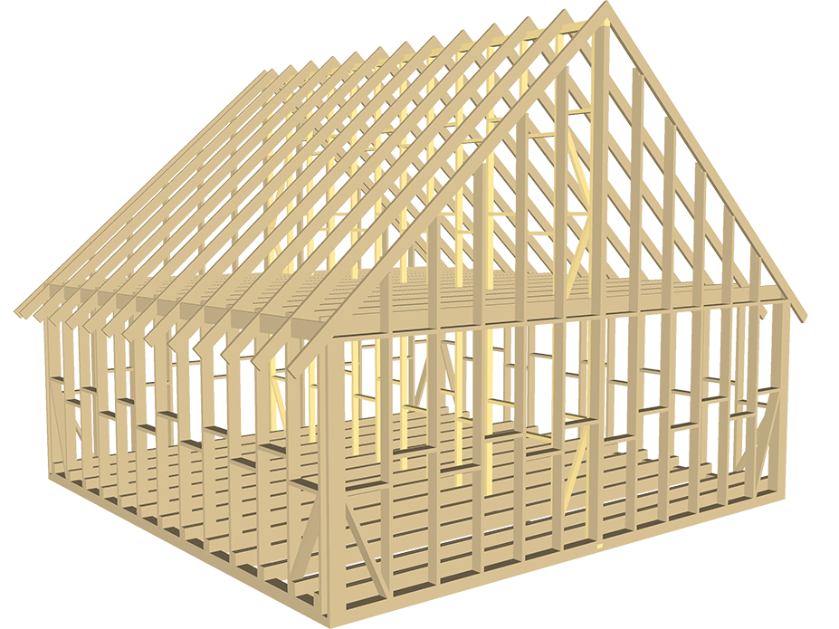 каркас дома 8x8м деревянные дома из бруса от ооо пск
